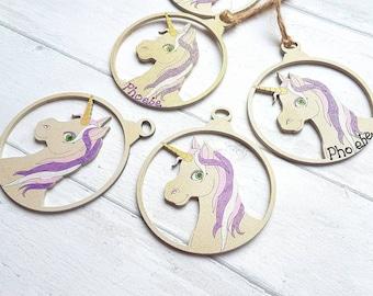 Unicorn Christmas Bauble, Unicorn Christmas, Magical Christmas, Personalised Bauble, Unicorn, Unicorn gift, Christmas Unicorn, Decoration