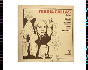 Maria Callas - sings Arias from Verdi, Wagner, Bellini, & Ponchielli LP Record, 1980s Vintage Vinyl Record Album, classical, opera