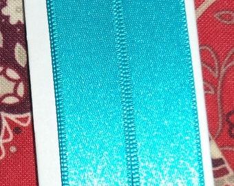 Ribbon turquoise satin 1.5 width 9 cm