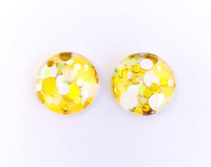 The 'Popcorn' Glass Glitter Earring Studs
