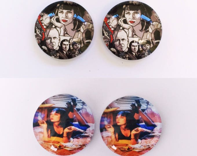 The 'Pulp Fiction' Glass Earring Studs