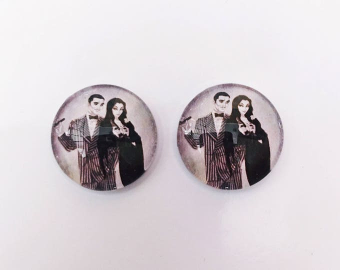 The 'Addams Family' Glass Earring Studs