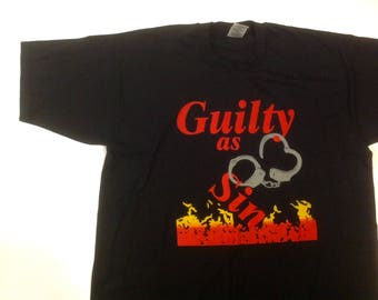 GUILTY as SIN amazing t-shirt / size XL