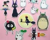 Studio Ghibli stickers (set or single) - laptop stickers - Totoro - Soot Sprite - vinyl - cute stickers - kawaii stickers
