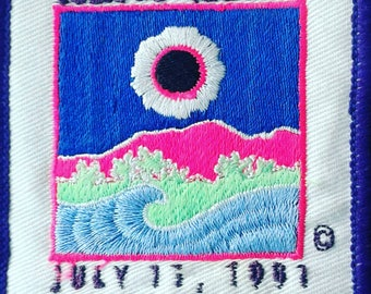 True Vintage Day Glo Patch Eclipse Hawaii Nice Graphics Sew On