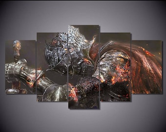5 Panels Dark Souls 3 Canvas Art Multi Grouped Art Work