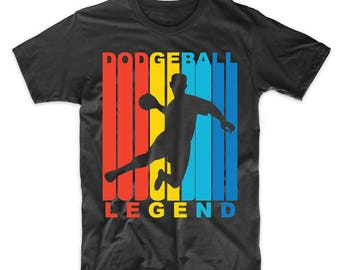 Retro 1970's Style Dodgeball Legend T-Shirt
