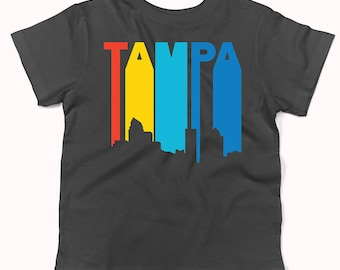 Retro 1970's Style Tampa Florida Skyline Infant / Toddler T-Shirt