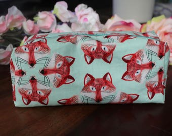 Mr Fox Pencil Case or Make Up Bag