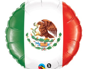 "Mexican Flag Round Balloon 18"", Mexico Flag Balloon"