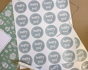 Happy Post postage stickers