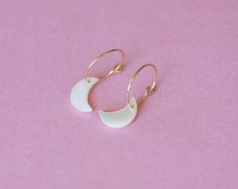 Moon earrings / moon earrings