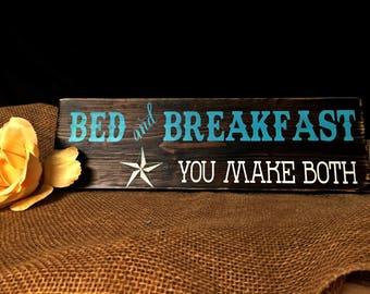 Bed and Breakfast,  Guest Room Sign,  Breakfast Sign, Kitchen Sign, Guest Bedroom, Western Decor