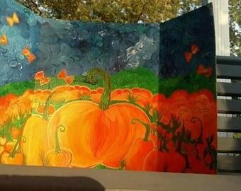 Original Pumpkin Patch Painting