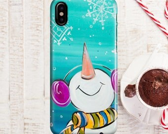 Selfie Snowman Phone case iPhone 8 Case iPhone 8 PLUS Case iPhone X Case iPhone 10 Case iPhone 7 Case iPhone 7 plus Case Gift