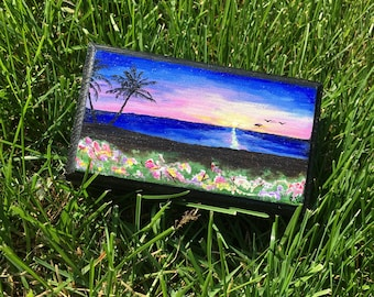 Custom Hand Painted Jewelry Box