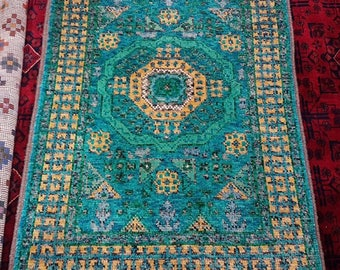 Persian hand knotted rug beautiful color and soft feeling