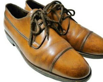 Men church derby shoes pumps nr 44 / 10.5 FRATELLI ROSSETTI oxford brogues brown calzature chaussures