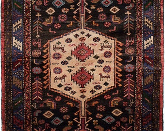 Vintage Persian Rug, Antique Persian Rug, Handmade, Hand Knotted Rug,  Hamadan