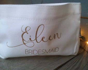 Bridesmaid, bride, maid of honor, matron of honor, mother of the bride makeup bag