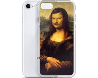 Mona Swanson - iPhone Case - Mona Lisa, Ron Swanson, Parks and Recreation, Nick Offerman, Faceswap, Funny