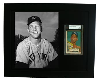 Sports Card Frame for a BVG (Beckett) Graded Card with an 8x10 vertical photo opening (NEW)