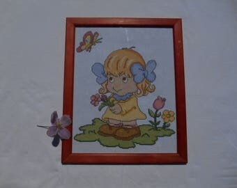 frame cross stitch baby/child room decoration