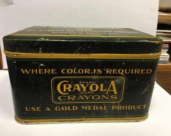 Crayola Tin, Vintage Crayon Tin
