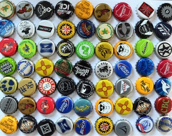50 NO DENTS Assorted Beer Bottle Caps, Bottle Cap Lot for Craft Supplies, Beer Bottle Cap Assortment
