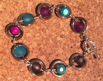 Illusion beads and glass bracelet