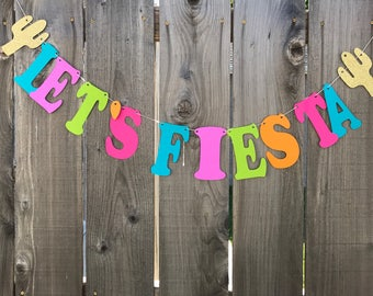 LET'S FIESTA BANNER| Cinco De Mayo Fiesta|Fiesta Birthday|Birthday Decoration