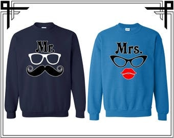 Mr. Mrs. Crewneck Sweatshirts Customize Your Date Sweatshirt Crewneck Sweatshirt Crewneck Sweater Gift For Couple