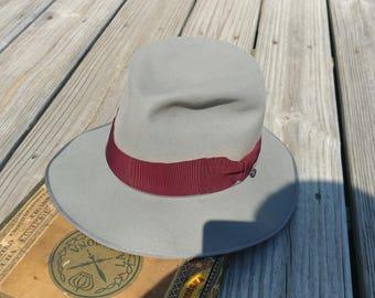 Vintage men's Knox  Premier  fedora hat  1940s size 6 7/8 ?