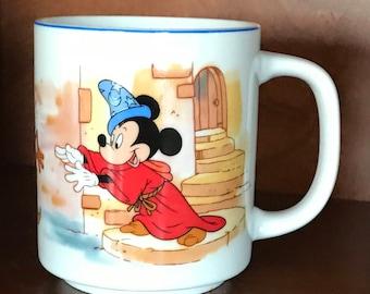 Vintage Fantasia Mickey Mouse Mug