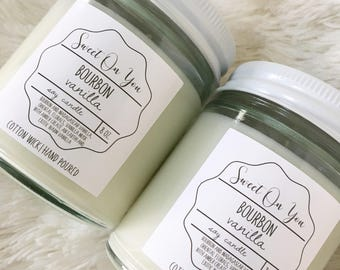 Bourbon Vanilla, Candles, Candle, Scented Candle, Dessert Candles, Soy Candles, Home fragrance, gift, Cotton Candy. Dye free, Mason Jar