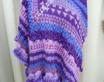 Knit shawl handmade items fantasies