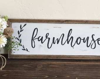 Farmhouse sign   Fixer Upper Style   Farmhouse Decor   Shabby Chic