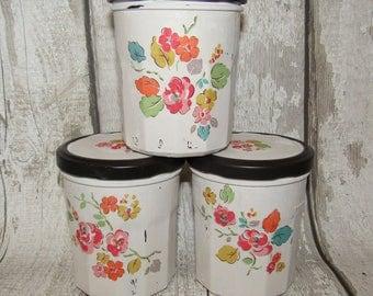 One Cath Kidston Decoupaged Jam Jar. Woodland Rose
