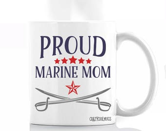 Proud Marine Mom Coffee Mug