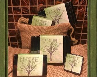 TEA TREE Facial Soap Bar With Activated Charcoal // GLYCERIN Facial Bar Soap // Vegan // Nurture