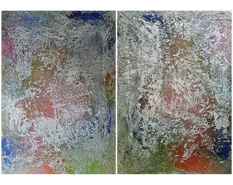 I And I (N.402)   140 X 100 X 2,50 Cm   Diptych