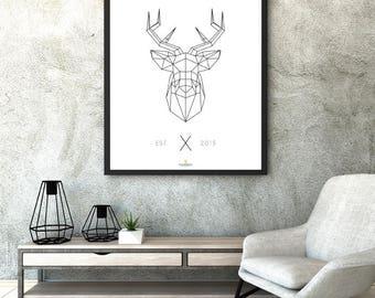 """Poster """"Deer"""" A1"""