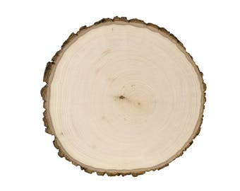 """1PC 9""""-12"""" Thick 1"""" Rustic Wedding Centerpiece, oval Tree Bark Slice, Rustic, Rustic Decorations, Natural Wood Slice, Tree Slice, Tree Trunk"""