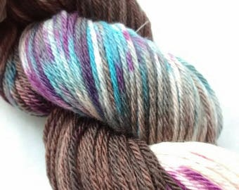 "Hand Dyed **LIMITED EDITION** ""Otter Al Fresco"" in Superwash Merino Double Knitting ooak"