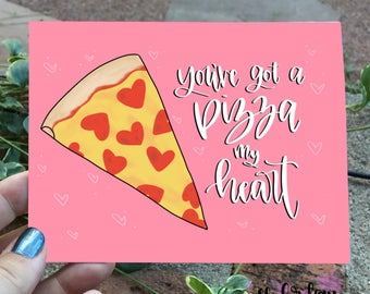 Pizza Greeting Card -Blank Card -Love Card -Anniversary Card -Punny Card - Pizza Card