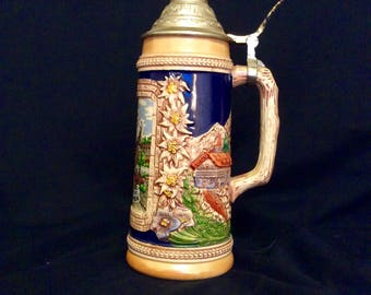 Munich Olympics 1972 stein with lid
