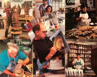 Ceramics Monthly Magazines - 7 Issues from 1997