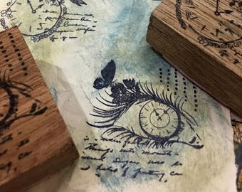 WATCHFUL EYE Wood Mounted Rubber Stamps