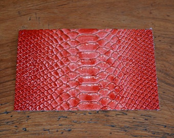Coupon of leather red python (9313459) way