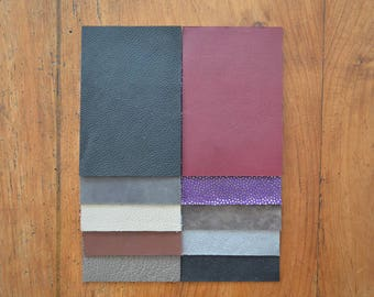 10 cowhide and lamb leather coupons (7392503)